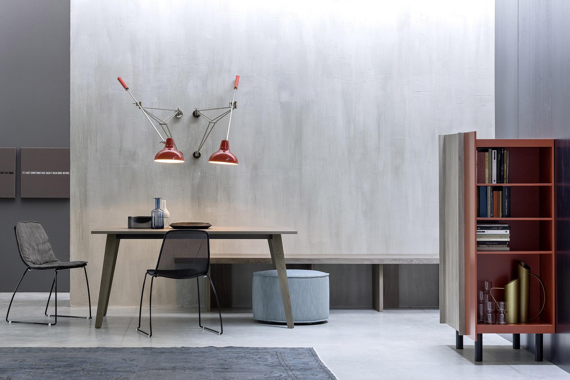 sala da pranzo legno moderna