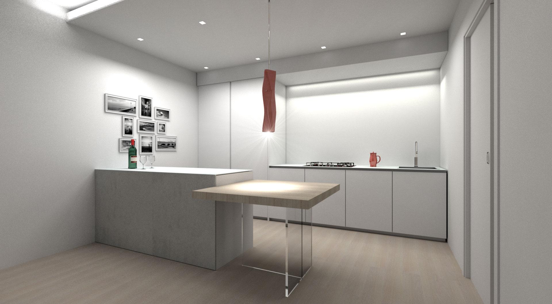 cucina moderna bianca zampieri