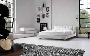 camera da letto stile moderno cubic bianca