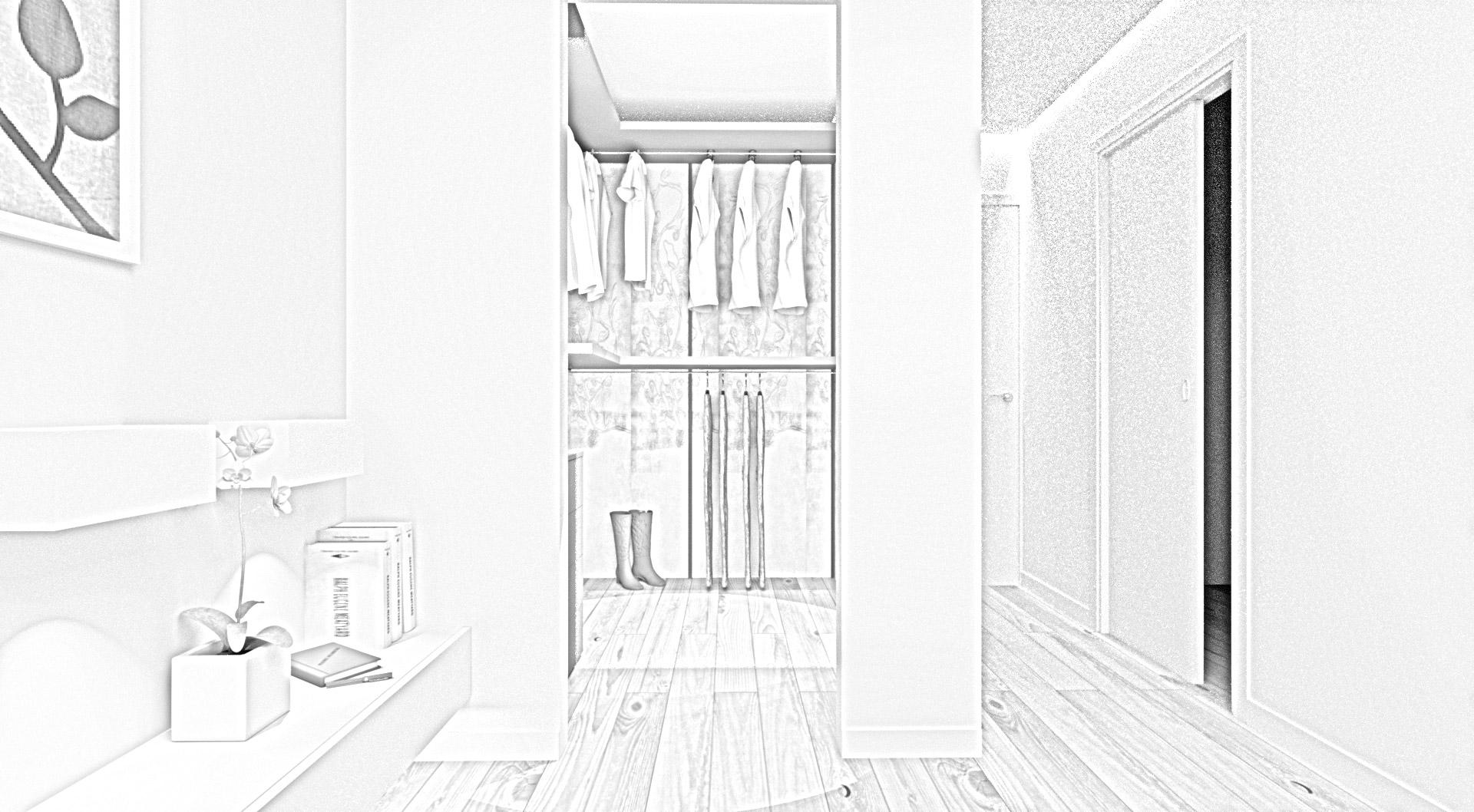 cabina armadio moderna zona notte