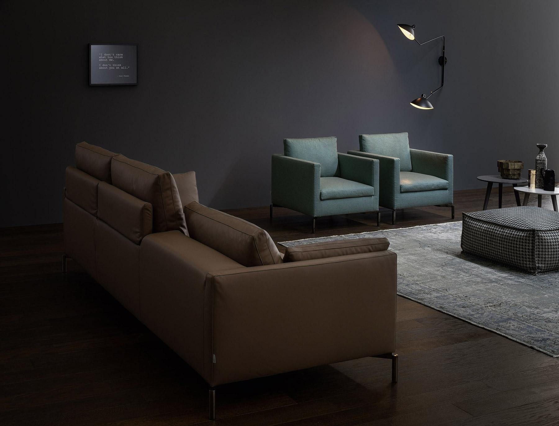 Salotto Moderno Verde : Salotto moderno marrone e verde