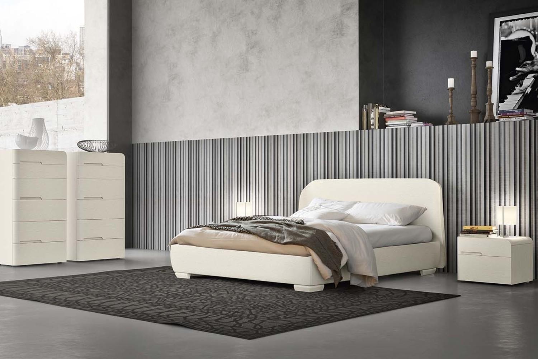 camera da letto essenziale bianca Napol –