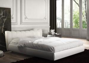 camera da letto stile moderno bianca