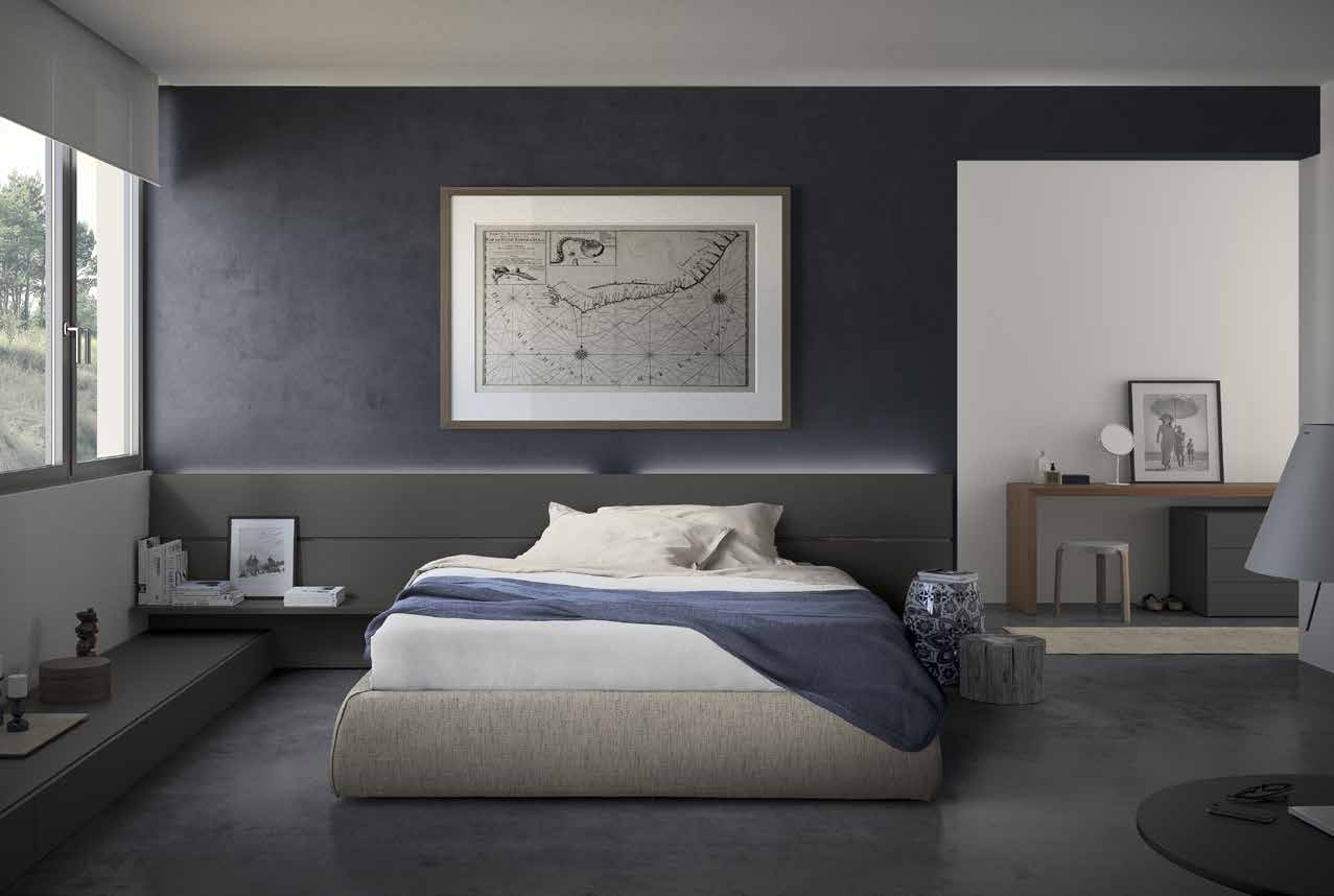 camera da letto stile moderno –