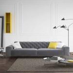 salotto moderno grigio