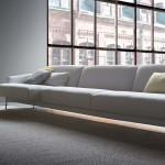 salotto divano moderno grigio medio